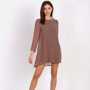 SMYMM Witcher Tunic Dress in Mushroom Chiffon sz S